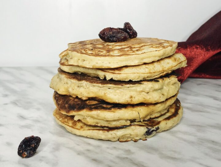 Oat and cranberry pancakes